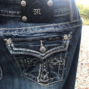 Miss Me Boot Cut Dark Wash Jeans